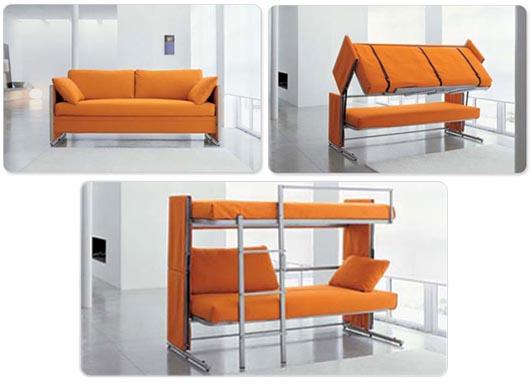 Aprovechamiento del espacio ominarq for Sofa cama plegable